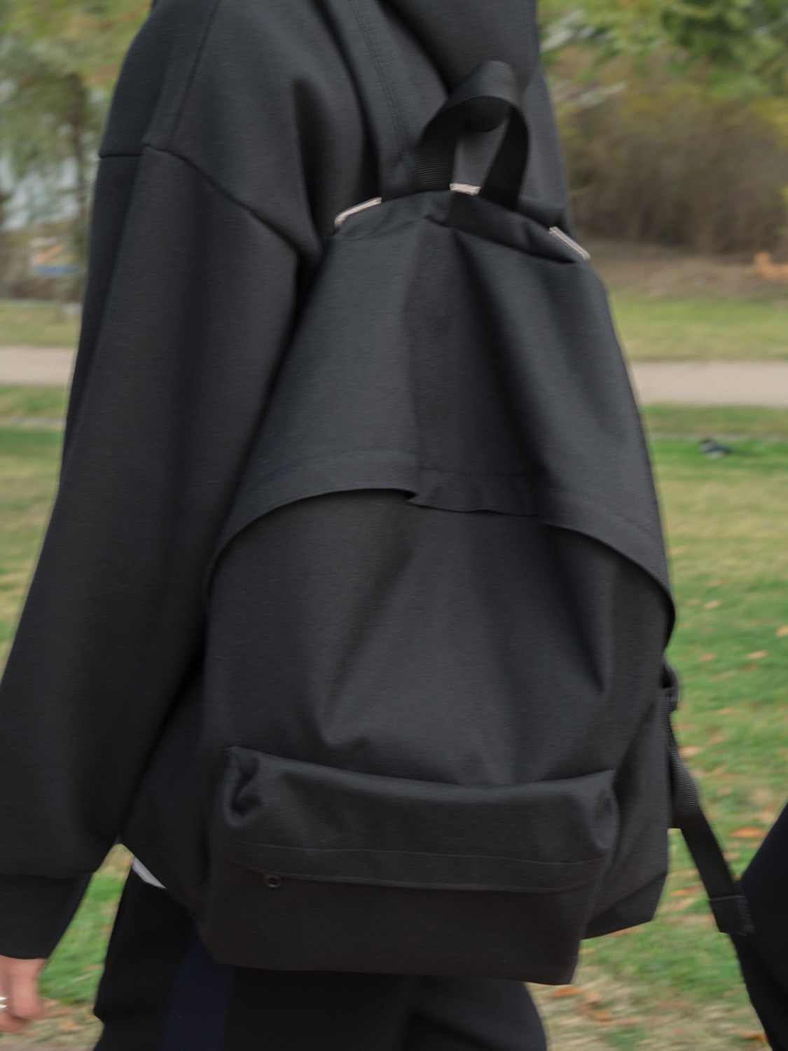 (MADE IN HIFIFNK) HFF BLACK BACKPACK